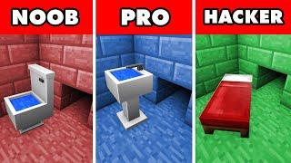 Noob vs. Pro vs. Hacker : IMPOSSIBLE PRISON ESCAPE SURVIVAL CHALLENGE! In Minecraft Animation