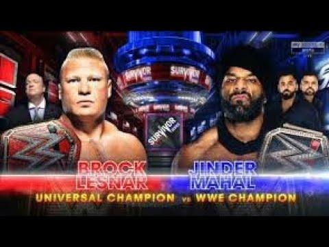 Brock Lesnar vs Jinder Mahal Full Match - Survivor Series 2017