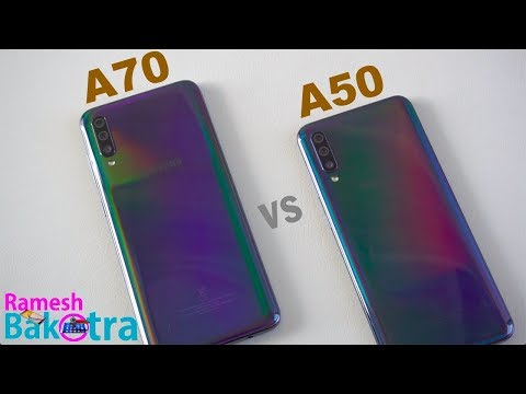 Samsung Galaxy A70 vs Galaxy A50 SpeedTest and Camera Comparison