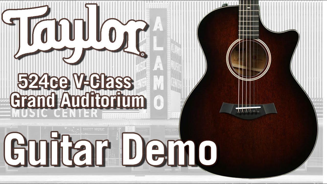 New For 2018 Taylor 524ce V Class – Acoustic Guitar Demo