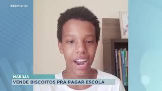 Em Marília adolescente vende biscoitos para pagar escola