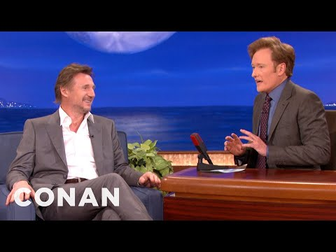 Liam Neeson - CONAN highlight: Liam Neeson and Conan discuss their lifelong battles with the sun.