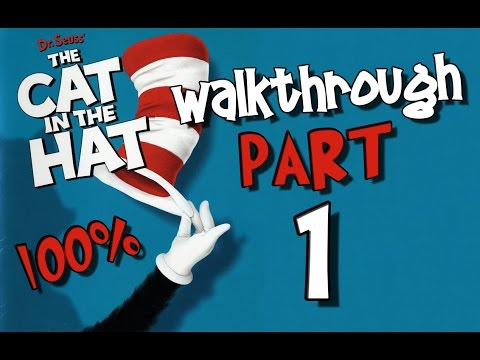 Dr. Seuss' The Cat In The Hat Walkthrough Part 1 (ps2, Xbox, Pc) 100% Level 1 - Grandfather Clock