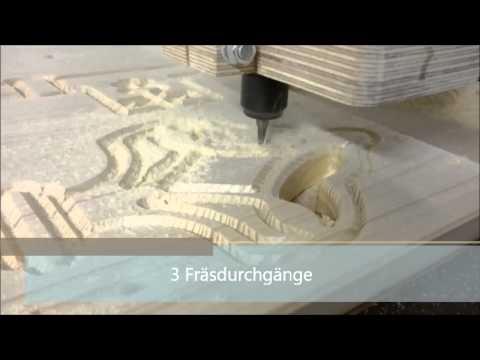 Schlüsselbrett fräsen auf Eigenbau CNC Fräs Maschine
