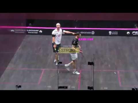 Squash tips: Strokes with Lee Drew - Trickle boast - Rosner vs Farag