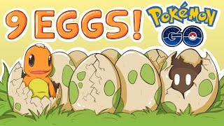 Pokemon go is amazing, and tons of rare pokemon come from 10k eggs, 5k eggs, and even starter pokemon come from 2k eggs. So today I'm going to hatch 9 eggs! ...