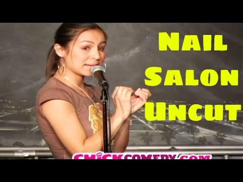 Anjelah Johnson- Nail Salon Uncut - ChickComedy (Funny Videos)