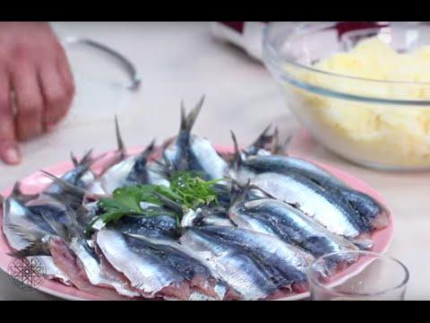 Sardines farcies panées et pastels de pomme de terre