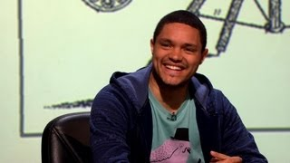 More about this programme: http://www.bbc.co.uk/programmes/b03d3p60 Trevor Noah talks about Zulus and demonstrates his click-singing.