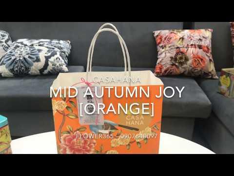 Hộp bánh trung thu CASAHANA Mid Autumn Joy Orange 04 bánh*180g
