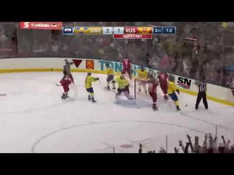 Незасчитанный гол Овечкина. Кубок мира по хоккею 2016. Россия - Швеция 1:2 (видео)