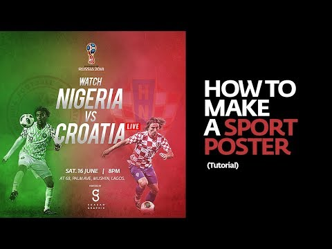 Photoshop: How To Make A Sport Poster (Tutorial)