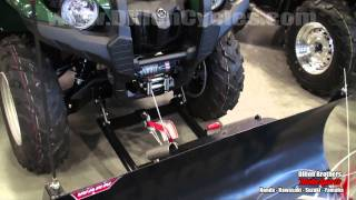 9. Warn Winch & Plow Blade demonstration - Yamaha Grizzly 550 & Kawasaki Brute Force 750