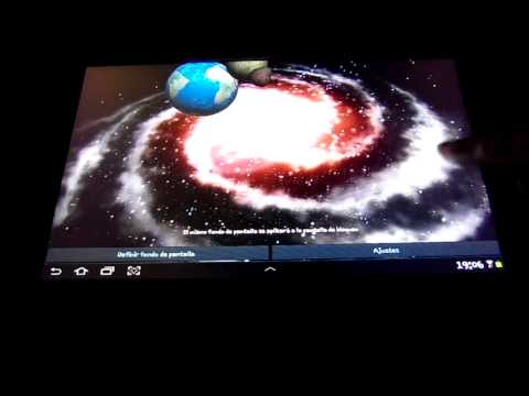 Video of 3D Galaxy Live Wallpaper Full