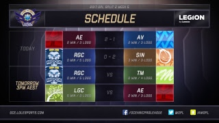 Avant Gaming vs. Abyss Regicide vs. Sin Gaming For more OPL action, subscribe to our YOUTUBE channel: http://bit.ly/2jD5pzN...