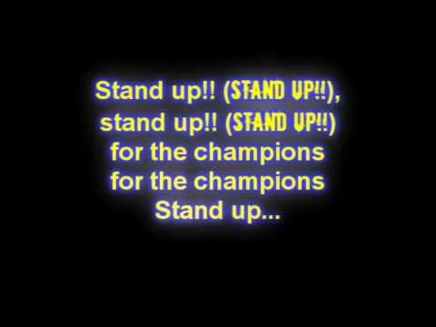 Tekst piosenki Right Said Fred - Stand Up (For The Champions) po polsku
