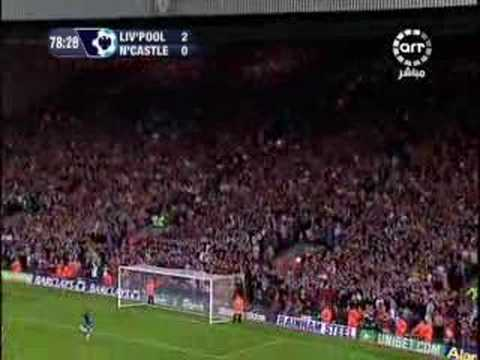 Xabi Alonso y su gol de media cancha