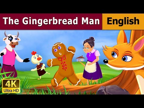 Gingerbread Man in English   English Story   Fairy Tales in English   English Fairy Tales