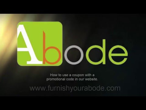 Abode furniture Portugal and Spain - How to use a coupon  code