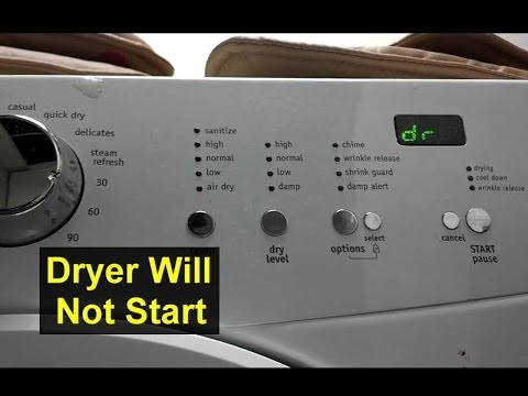 Dryer will not start, dr displayed, E66 error, Frigidaire Affinity – Home Repair Series
