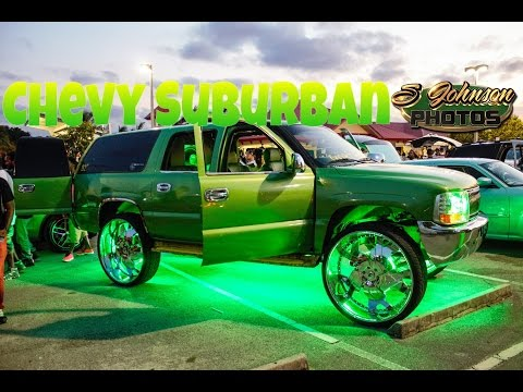 Extreme loud Chevy Suburban on 32 inch Forgiato Wheels in HD (must see)