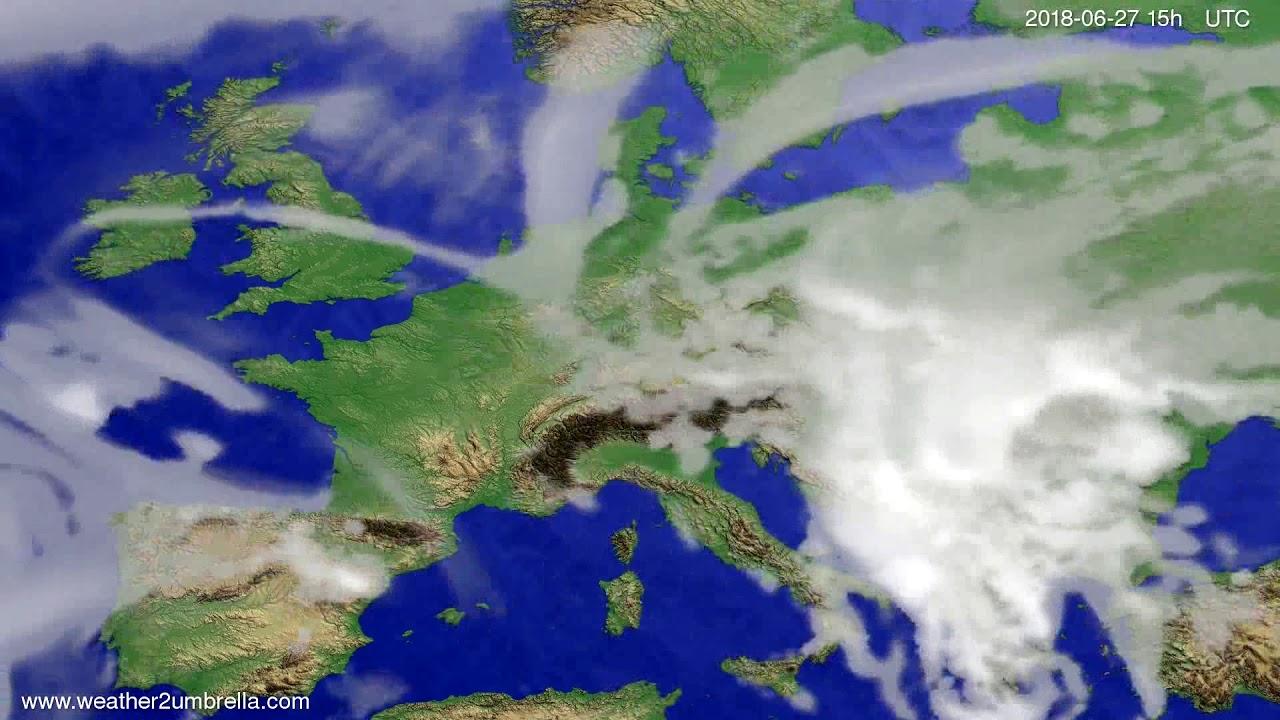 Cloud forecast Europe 2018-06-25