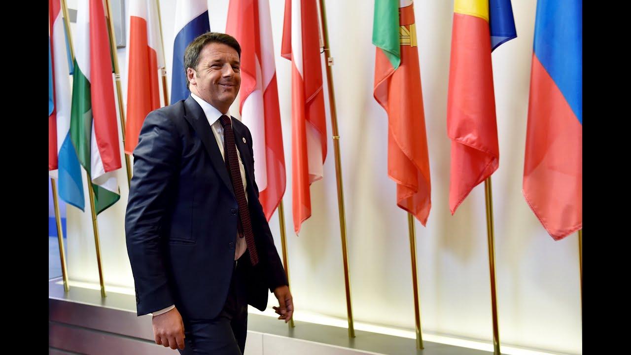 Δηλώσεις του Ιταλού πρωθυπουργού μετά τη Σύνοδο Κορυφής