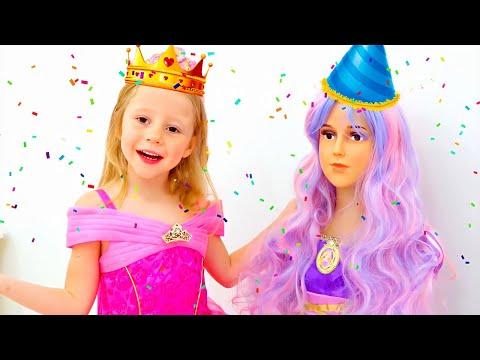 Nastya geht zu einer Prinzessin Party für Mädchen