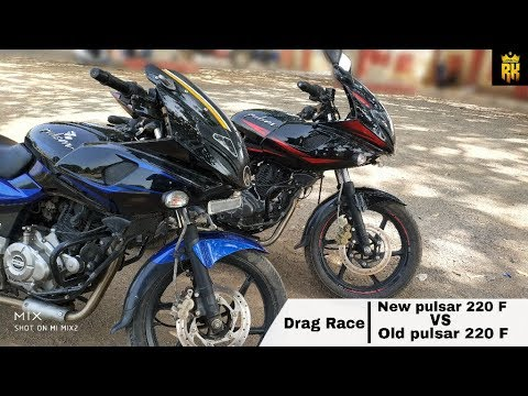 Video New pulsar 220 F VS Old pulsar 220 F ( Drag Race ) :- download in MP3, 3GP, MP4, WEBM, AVI, FLV January 2017