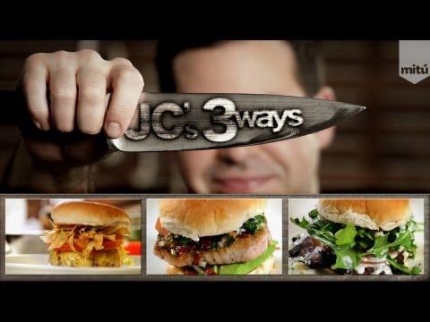Great Chef Shares His Classic Hamburger, Tuna Burger and Mushroom Burger Recipes
