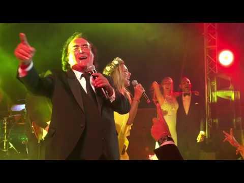 video esclusivo: al bano & romina cantano al matrimonio della figlia