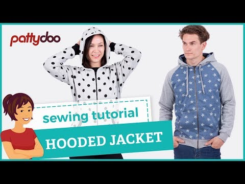 Video How to sew a zip-up hooded sweat jacket with kangaroo pockets - tutorial download in MP3, 3GP, MP4, WEBM, AVI, FLV January 2017