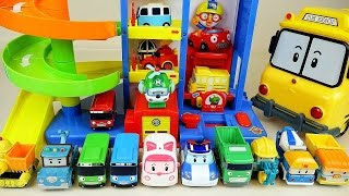 Video Robocar Poli car toys and Parking tower tayo bus pororo toys MP3, 3GP, MP4, WEBM, AVI, FLV Maret 2018