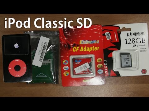 How to replace iPod Classic Hard Drive to SD Card