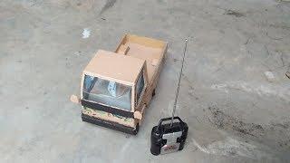 cara membuat mainan mobil pick up dari kardus ### amazing DIY carboard