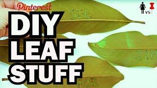 DIY Leaf Stuff - Corinne Vs Pin #33 by ThreadBanger