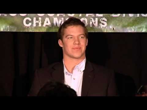 Pressley - Interview of James Hurst, Kareem Martin, Bryn Renner, Tre Boston, and Eric Ebron at the 2013 Signing Day Live Party. Blue Zone Kenan Stadium Chapel Hill, Nor...
