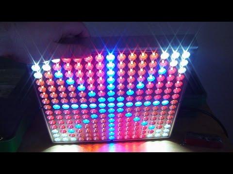 Unboxing einer LED-Pflanzenlampe/Update Growbox