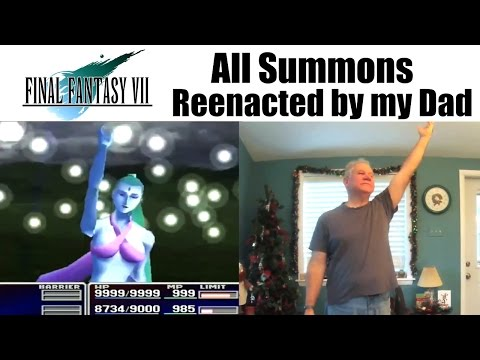 A Son Gets His Dad to Reenact All the Summon Attacks From Final Fantasy