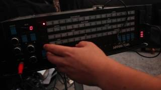 a few buyers wanted to see this sampler in action sampled some stevie W and then demostrated the cut off , res and amp.......first i set the same time indicating the unit is expanded then sample rate then i force sampling.then i play with the amp decayi dont really use the front panel with the prophet i use a third party app which controls it via midi however for this demo i have used the front panel.