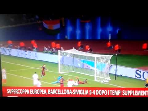 finale supercoppa europea - barcellona-siviglia 5:4