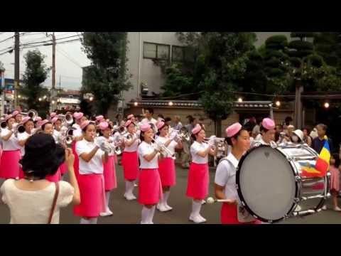 創価学会 富士鼓笛隊 立川市 「羽衣まつり」2013.8.24