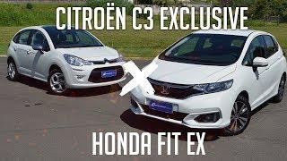 Comparativo: Honda FIT EX x Citroën C3 Exclusive
