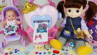 Video Baby doll bag and jewelry sticker maker toys beauty house play - 토이몽 MP3, 3GP, MP4, WEBM, AVI, FLV Maret 2019
