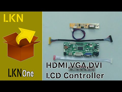 Unboxing of HDMI, DVI, VGA & Audio Controller Board for LCD Panel