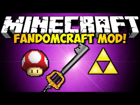 Minecraft FandomCraft Mod: KINGDOM HEARTS, ZELDA, MARIO, & MORE! (HD)
