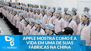 Mais informações: http://www.tecmundo.com.br/apple/104046-apple-finalmente-mostra-vida-fabricas-china.htm ::http://www.tecmundo.com.br ::http://www.baixaki.c...