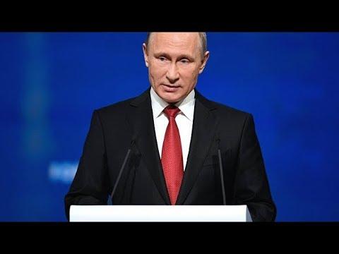 ПМЭФ-2018. Пленарное заседание. Выступление Владимира Путина. Прямой эфир (видео)