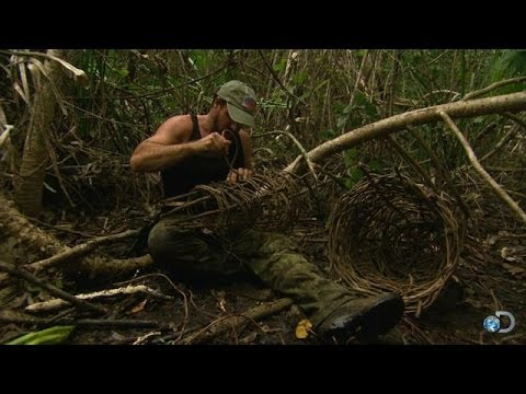 dual - Survivalist Joe Teti fashions a a crab trap using the natural resources of Sri Lanka's mangrove swamps. Will his home made contraption pay off with a well-deserved meal? | For more Dual Survival,...