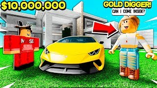 I BOUGHT a $10,000,000 MANSION.. GOLD DIGGER Asked To Come Inside! (Roblox)